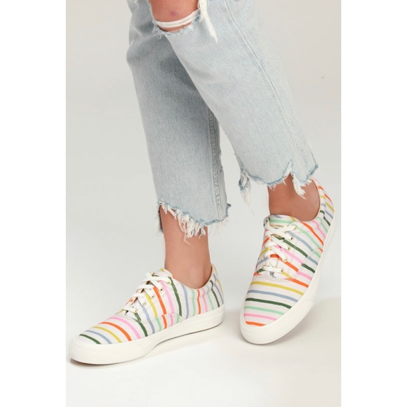 NWT Keds x Rifle Paper Co Happy Stripe Sneakers
